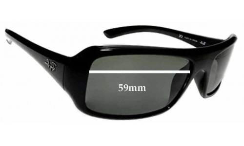 Sunglass Fix Sunglass Replacement Lenses for Ray Ban RB 4073 - 59mm wide lenses