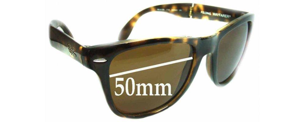76dc6e3e3e Ray Ban Folding Wayfarer RB4105 Sunglass Replacement Lenses - 50mm wide