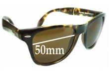 Sunglass Fix Sunglass Replacement Lenses for Ray Ban Wayfarer RB4105 Folding - 50mm Wide