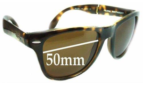 Sunglass Fix Sunglass Replacement Lenses for Ray Ban Folding Wayfarer RB4105 - 50mm wide