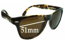 Sunglass Fix Sunglass Replacement Lenses for Ray Ban Wayfarer RB4105 Folding - 51mm Wide