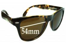 Sunglass Fix Sunglass Replacement Lenses for Ray Ban Wayfarer RB4105 Folding - 54mm Wide
