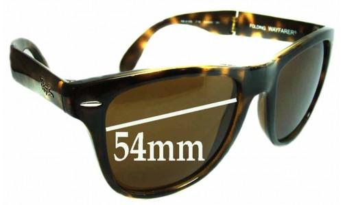 Sunglass Fix Sunglass Replacement Lenses for Ray Ban Folding Wayfarer RB4105 - 54mm wide