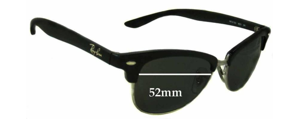 Sunglass Fix Sunglass Replacement Lenses for Ray Ban Wayfarer RB4132 - 52mm Wide