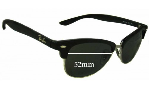 Sunglass Fix Sunglass Replacement Lenses for Ray Ban RB4132 Wayfarer - 52mm wide
