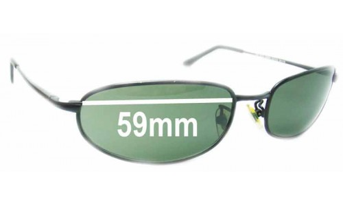 Sunglass Fix Sunglass Replacement Lenses for Ray Ban RB8020 Orbs - 59mm Wide Lens