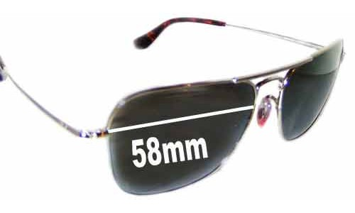 Sunglass Fix Sunglass Replacement Lenses for Ray Ban RB8034-K Large - 58mm Wide