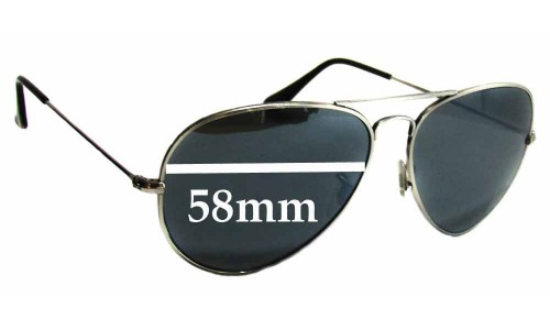 Sunglass Fix Sunglass Replacement Lenses for Ray Ban RB8041 - 58mm Wide
