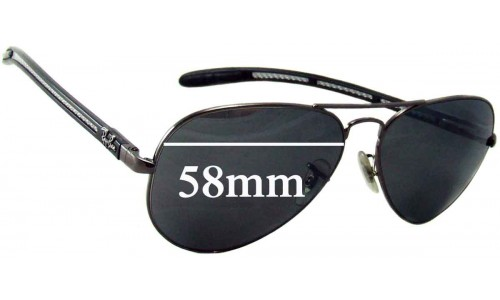 Sunglass Fix Sunglass Replacement Lenses for Ray Ban Aviator Tech RB8307 - 58mm Wide