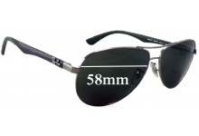 Sunglass Fix Sunglass Replacement Lenses for Ray Ban RB8313 Tech - 58mm Wide