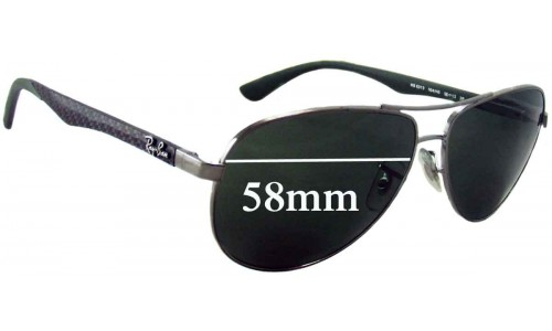 Sunglass Fix Sunglass Replacement Lenses for Ray Ban RB8313 - 58mm wide
