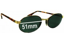 Sunglass Fix Sunglass Replacement Lenses for Ray Ban B&L W2188 - 51mm Wi