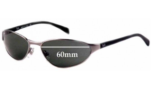 Sunglass Fix Sunglass Replacement Lenses for Ray Ban B&L W2968 - 60mm Wide