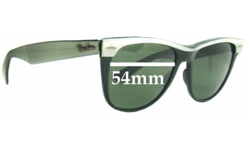 Sunglass Fix Sunglass Replacement Lenses for Ray Ban B&L Wayfarer II - 54mm Wide x 47mm Tall