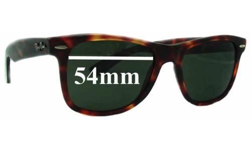 Sunglass Fix Sunglass Replacement Lenses for Ray Ban Wayfarer RB2037 - 54mm Wide