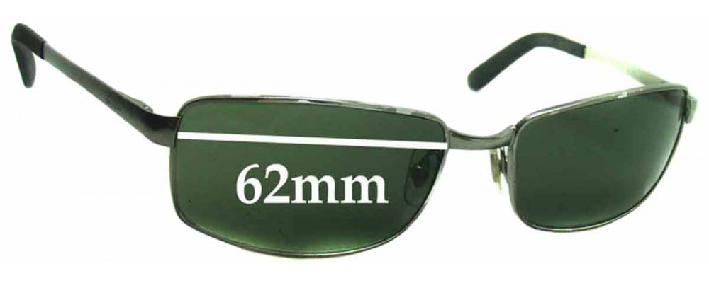 f0541c9b894d Sunglass Fix Sunglass Replacement Lenses for Ray Ban RB3194 - 62mm wide