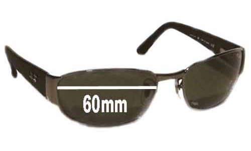 Sunglass Fix Sunglass Replacement Lenses for Ray Ban Undercurrent RB3141 Leather II - 60MM wide