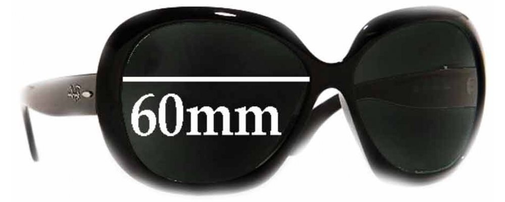 093d627ed94 Sunglass Fix Sunglass Replacement Lenses for Ray Ban Jackie Ohh II RB4098 - 60mm  Wide lenses
