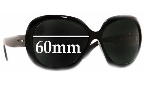 Sunglass Fix Sunglass Replacement Lenses for Ray Ban Jackie Ohh II RB4098 - 60mm Wide lenses