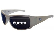 Sunglass Fix Sunglass Replacement Lenses for Rip Curl Snappers - 60mm Wide
