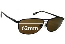 Sunglass Fix Sunglass Replacement Lenses for Serengeti Large Aviator - 62mm Wide x 43.9mm Tall