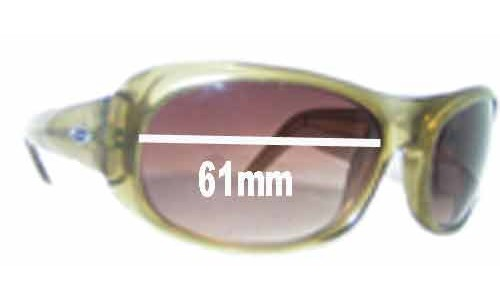 Sunglass Fix Sunglass Replacement Lenses for Smith Lovejoy Crystal Green - 61mm