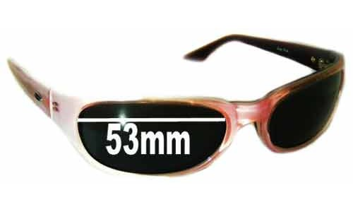 Sunglass Fix Sunglass Replacement Lenses for Smith Vice Pink - 53mm Wide