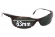 Sunglass Fix Sunglass Replacement Lenses for Vuarnet Pouilloux REF116 - 63mm Wide