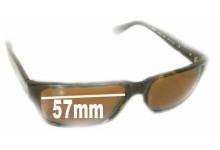 Sunglass Fix Sunglass Replacement Lenses for Wayne Cooper WC982 - 57mm Wide