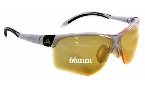 ce512188bf7 Adidas Adizero A171 Sunglass Replacement Lenses - 66mm wide   The Sunglass  Fix Cannot Provide Lenses For This Model Sorry