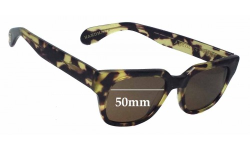 Sunglass Fix Sunglass Replacement Lenses for Age Eyewear Agent - 50mm Wide