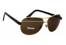 Sunglass Fix Sunglass Replacement Lenses for Alex Perry AP Sun Rx 09 - 59mm Wide
