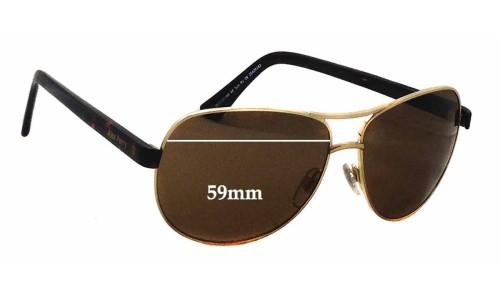 Sunglass Fix Sunglass Replacement Lenses for Alex Perry AP SunRx 09 - 59mm Wide