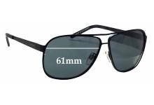 Sunglass Fix Sunglass Replacement Lenses for Alex Perry AP Sun Rx 18 - 61mm Wide