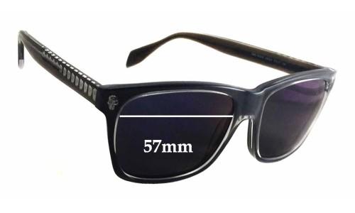 Sunglass Fix Sunglass Replacement Lenses for Alexander Mqueen AMQ 4253/S - 57mm Wide