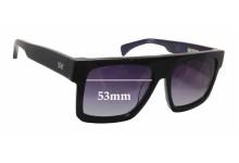Sunglass Fix Sunglass Replacement Lenses for AM Eyewear Shanthani - 53mm Wide x 43mm Tall