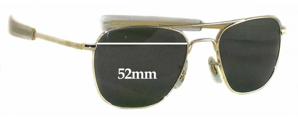 American Optical Original Pilot Sunglass Replacement Lenses - 52mm wide  eeb938b92e5