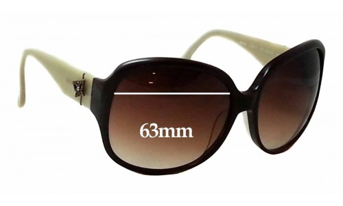 Sunglass Fix Sunglass Replacement Lenses for Anna Sui AS813 - 63mm Wide