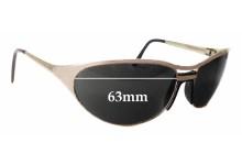 Sunglass Fix Sunglass Replacement Lenses for Arnette Steel Raven - 63mm Wide