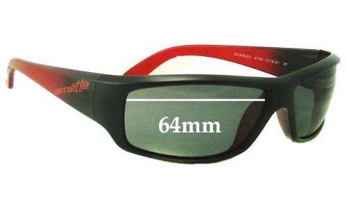Sunglass Fix Sunglass Replacement Lenses for Arnette Sawbuck AN4154 - 64mm Wide