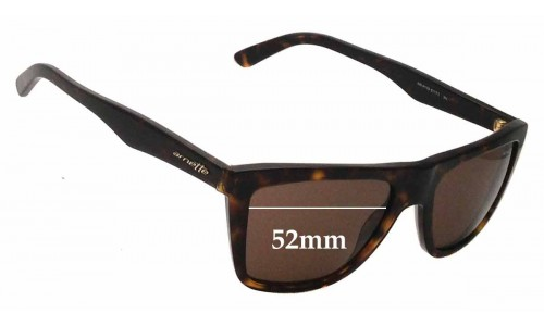 Sunglass Fix Sunglass Replacement Lenses for Arnette Agent AN4119 Sunglass Replacement Lenses- 52mm wide