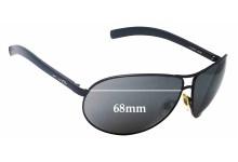 Sunglass Fix Sunglass Replacement Lenses for Arnette Lock Down AN3049 - 68mm Wide
