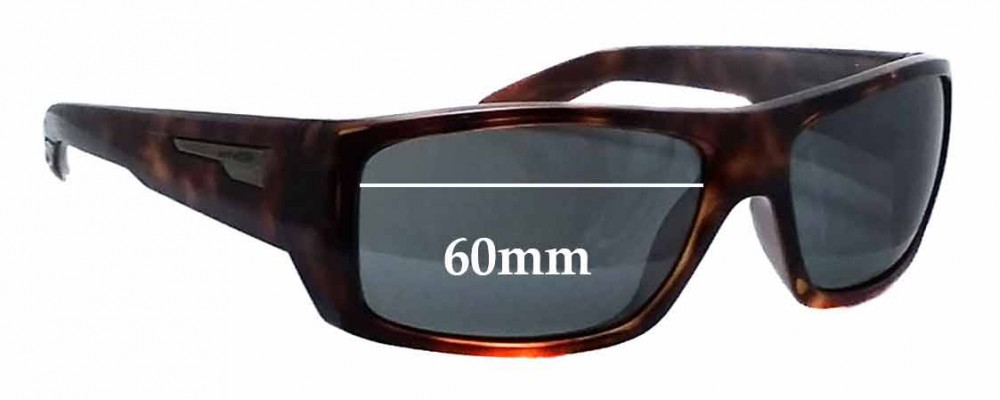 Sunglass Fix Replacement Lenses for Arnette Munson AN4164 - 60mm Wide