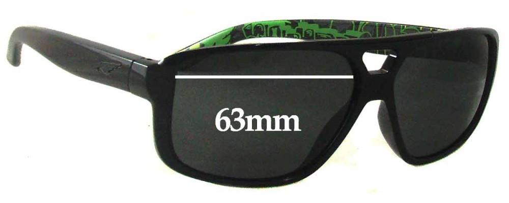Sunglass Fix Replacement Lenses for Arnette Fat City AN4189 - 63mm Wide