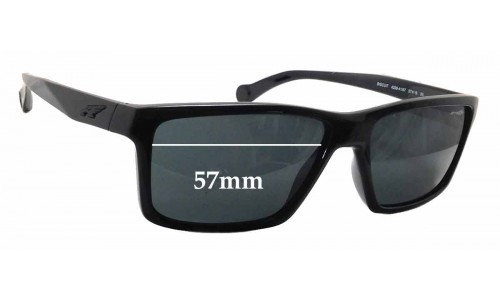 Sunglass Fix Sunglass Replacement Lenses for Arnette Biscuit AN4208 - 57mm wide