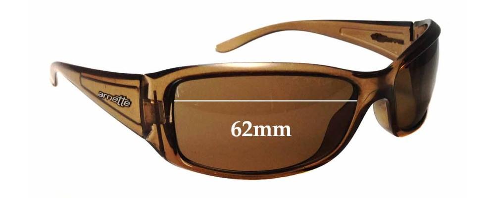 Sunglass Fix Sunglass Replacement Lenses for Arnette Caller AN4127 - 62mm Wide