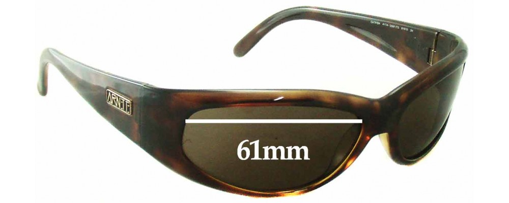 Sunglass Fix Replacement Lenses for Arnette Catfish AN4174 - 61mm Wide