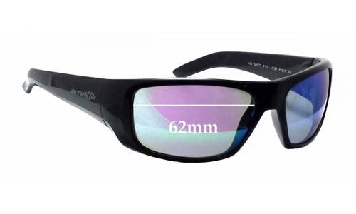Sunglass Fix Sunglass Replacement Lenses for Arnette Hot Shot AN4182 - 62mm Wide