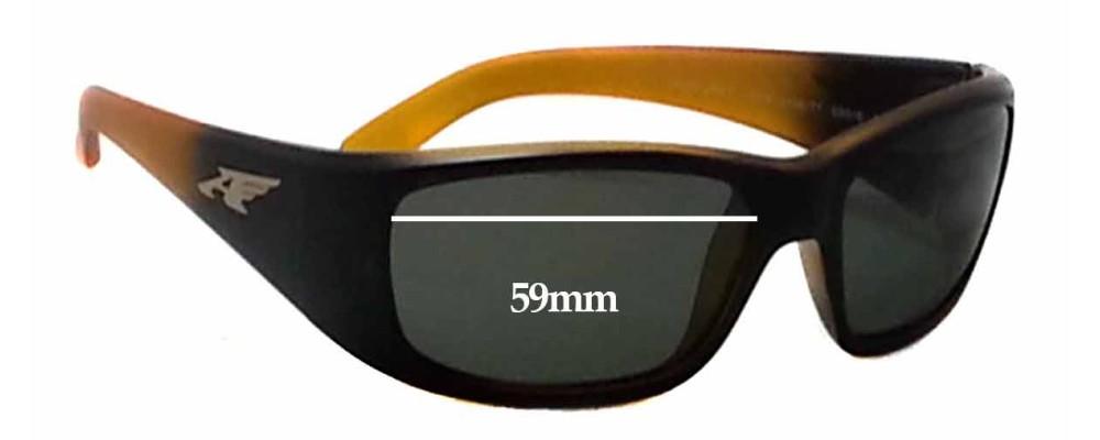 Sunglass Fix Sunglass Replacement Lenses for Arnette Quick Draw AN4178 - 59mm Wide