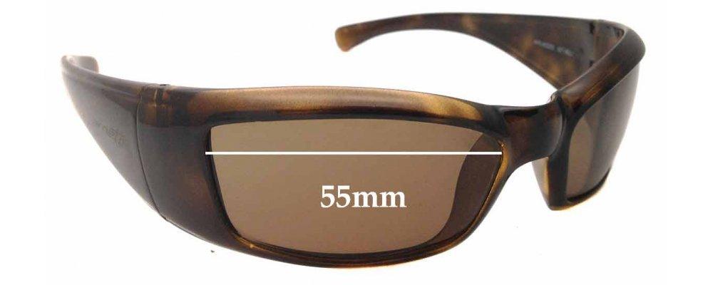 Sunglass Fix Sunglass Replacement Lenses for Arnette Rage AN4025 - 55mm Wide